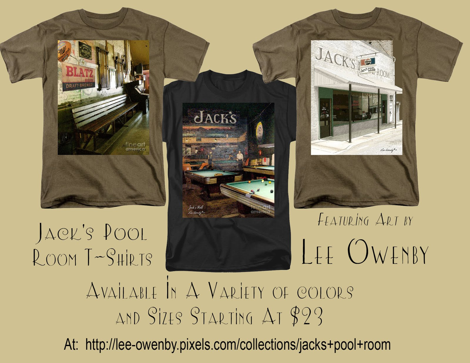 Jack's Pool Room T-Shirts