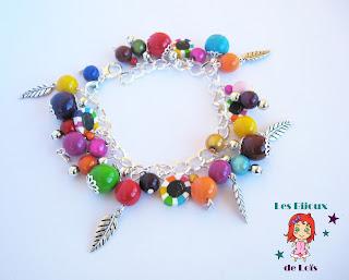 bracelet multicolore fimo