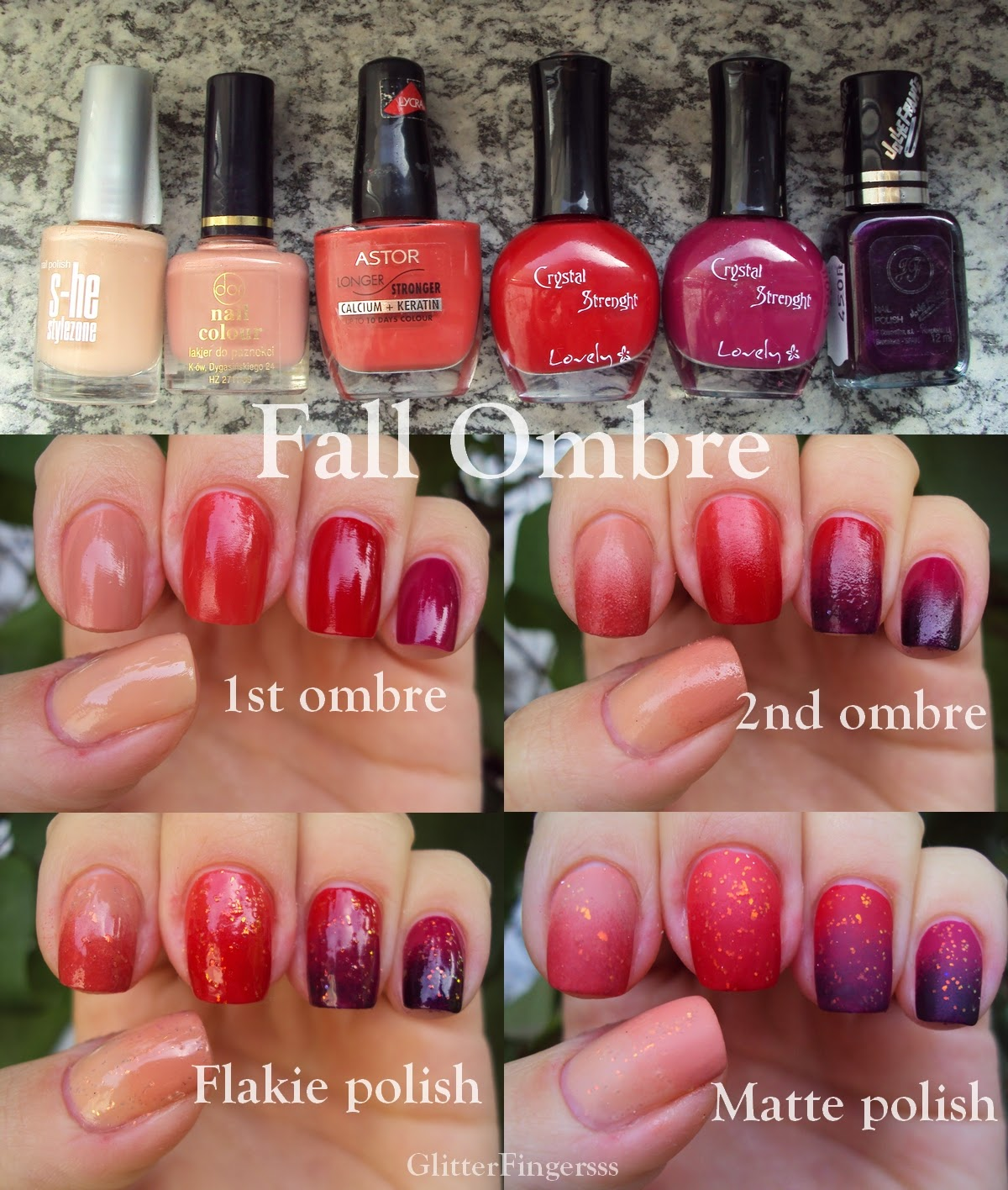 TUTORIAL | Fall Ombre ~ Glitterfingersss in english