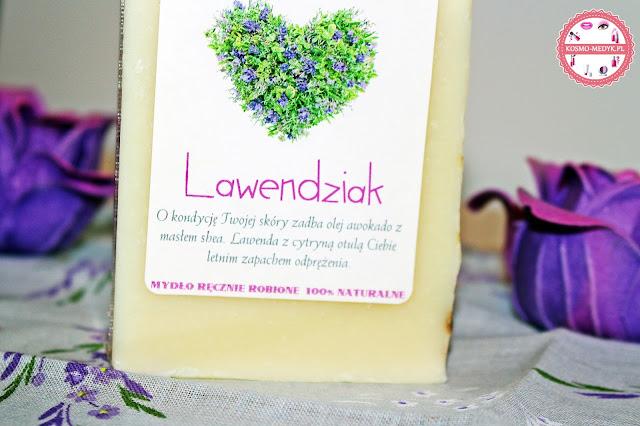 Sztuka mydła - ręcznie robione, naturalne mydło lawendziak.