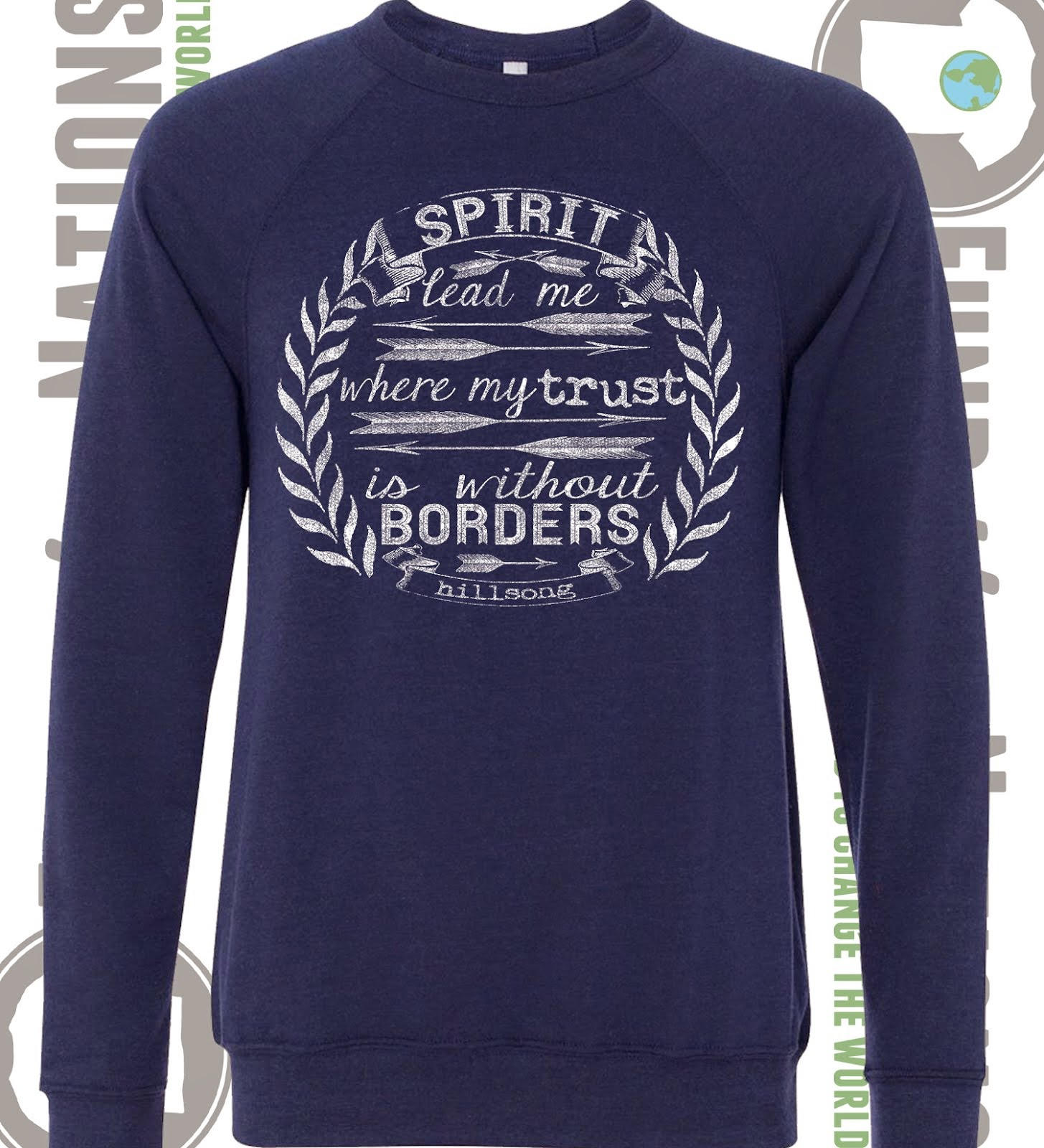 Spirit Lead Me Navy Triblend Sweatshirt