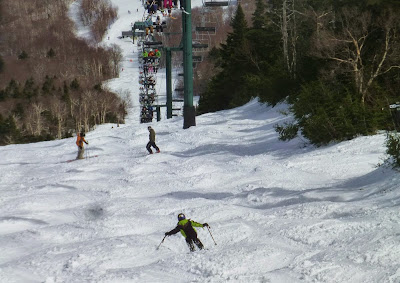 Daniel ripping the soft bumps on Ripcord, Sugarbush VT, Friday 04/03/2015.  The Saratoga Skier and Hiker, first-hand accounts of adventures in the Adirondacks and beyond, and Gore Mountain ski blog.