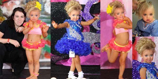 Kontes kecantikan yangmewajibkannya berdandan bak perempuan dewasa