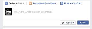 Cara mengirim status di facebook