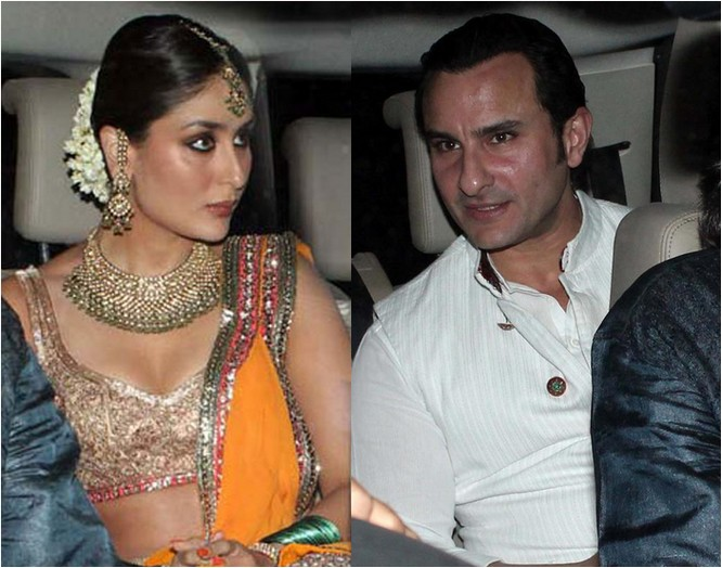 Kareena Kapoor and Saif Ali Khan Wedding Pics