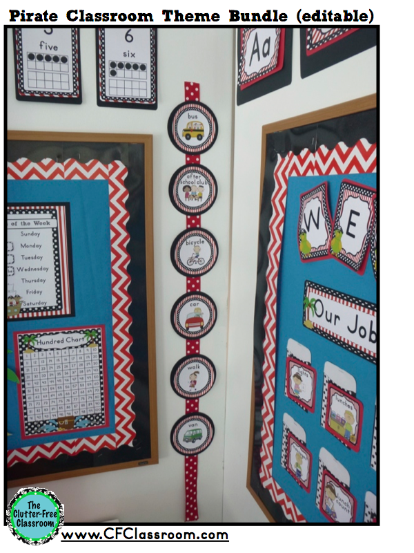 Clutter Free Classroom Pirates Nautical Themed Classrooms