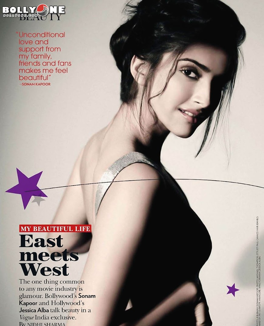 Sonam Kapoor Vogue India October 2011 Magazine Scans