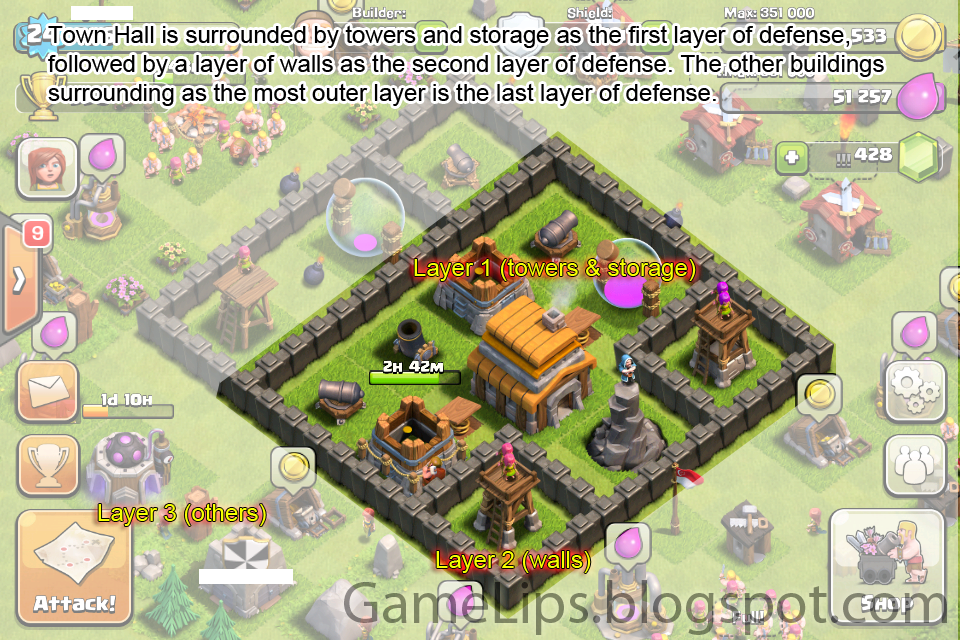 Clash of Clans Base Town Hall Level 4