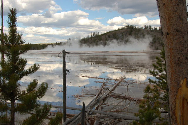 Geothermal reflections in Yellowstone
