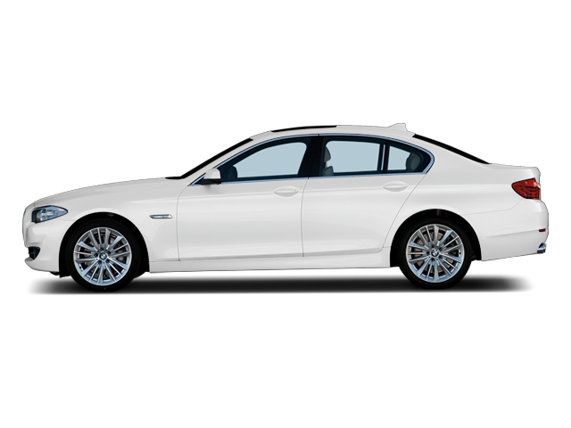 Side view of white 2011 BMW 528i