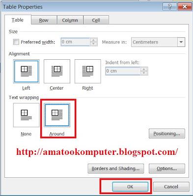 Cara Menggabungkan Tabel dengan Dokumen di Microsoft Word 2007 2