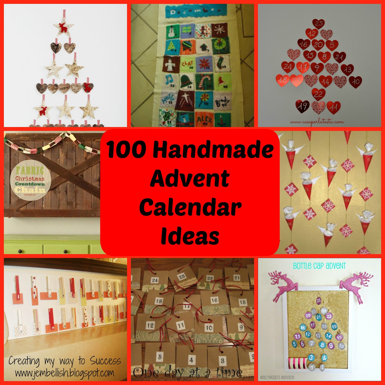 creating my way to success 100 ideas for handmade advent