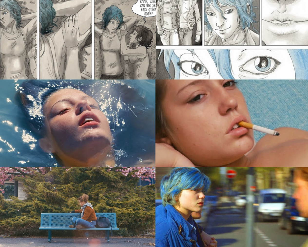 based on the french graphic novel blue angel blue is the warmest color is the story of adele a high school senior who falls in love in with emma a - Blue Is The Warmest Color Book