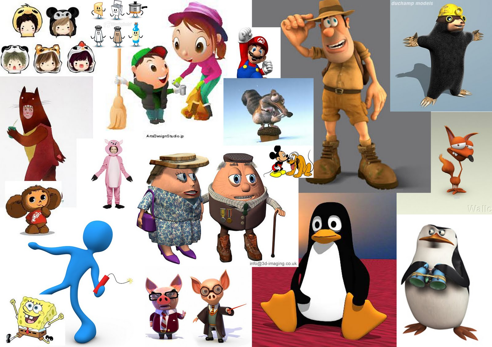 Character Design Mood Board : D character animation initial ideas mood