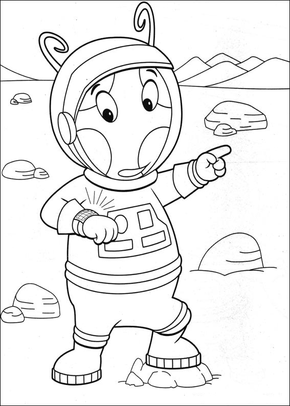 Fun Coloring Pages The Backyardigans Coloring Pages