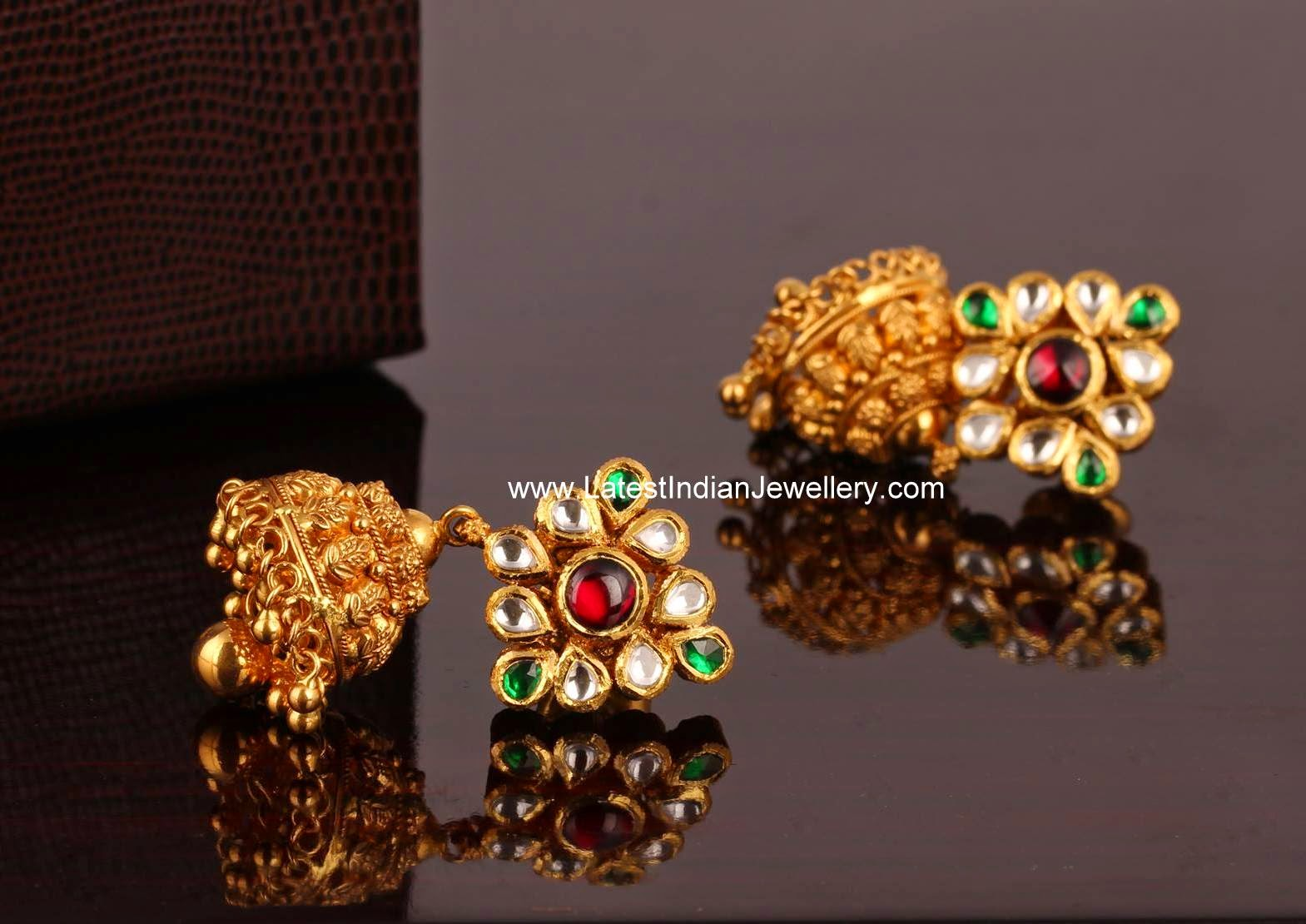 Beautiful Gold Jhumki Earrings