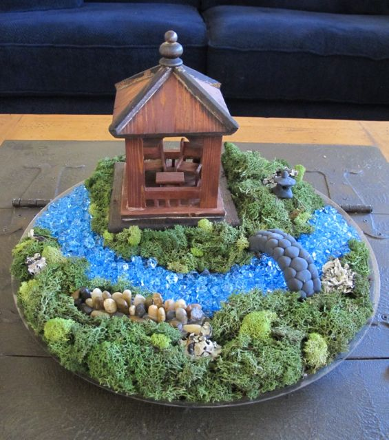 Wind rose fiber studio miniature japanese garden show How to build a japanese garden