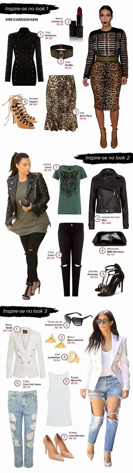 Copia o estilo extravagante de Kim Kardashian