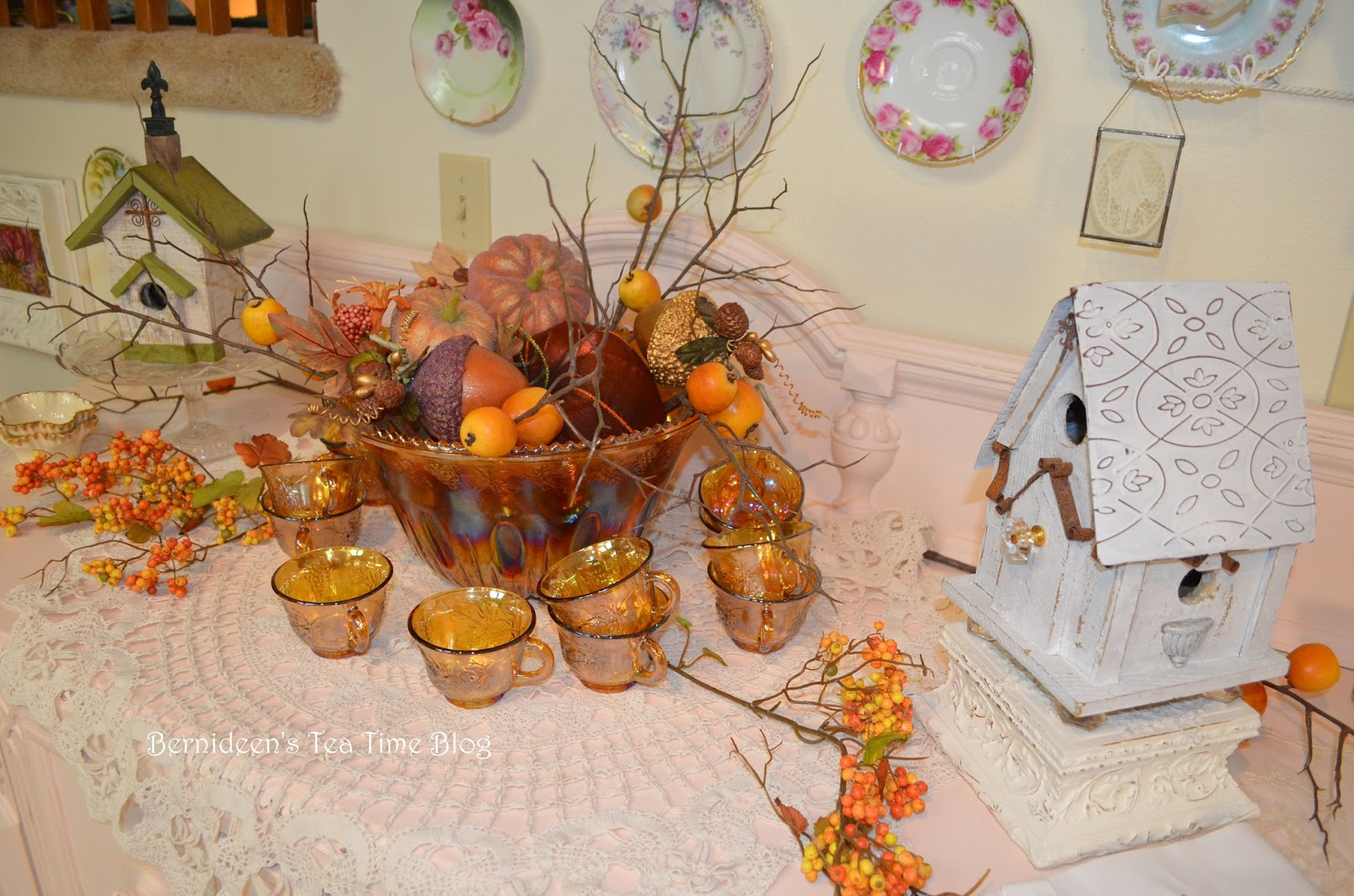 bernideen s tea time cottage and garden fall decor going more quot shabby chic quot