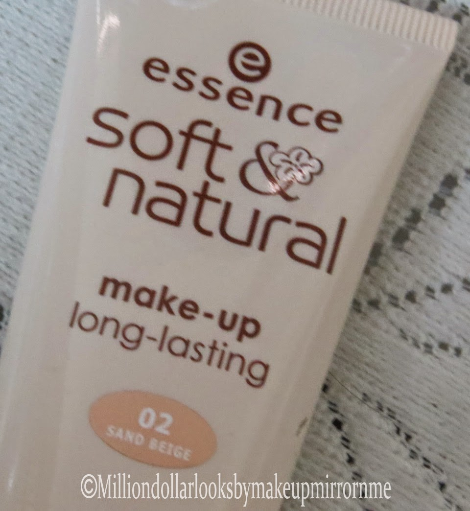 Essence Soft & Natural make-up long lasting foundation 02 Sand Beige Review & Pictures
