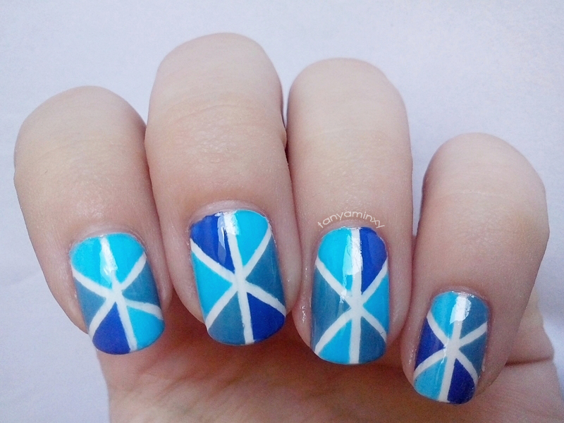 tanyaminxy 31DC2014 Day 26: Inspired By A PATTERN - Striping Tape Nails Born Pretty Store
