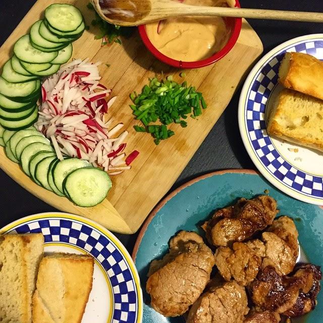 Ginger-soy pork sandwiches