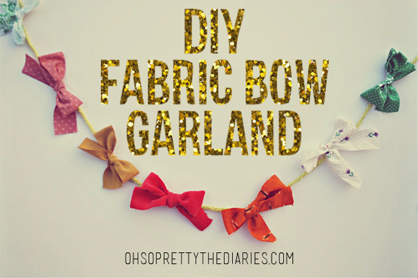 Hey Wanderer: the DIY: FABRIC BOW GARLAND