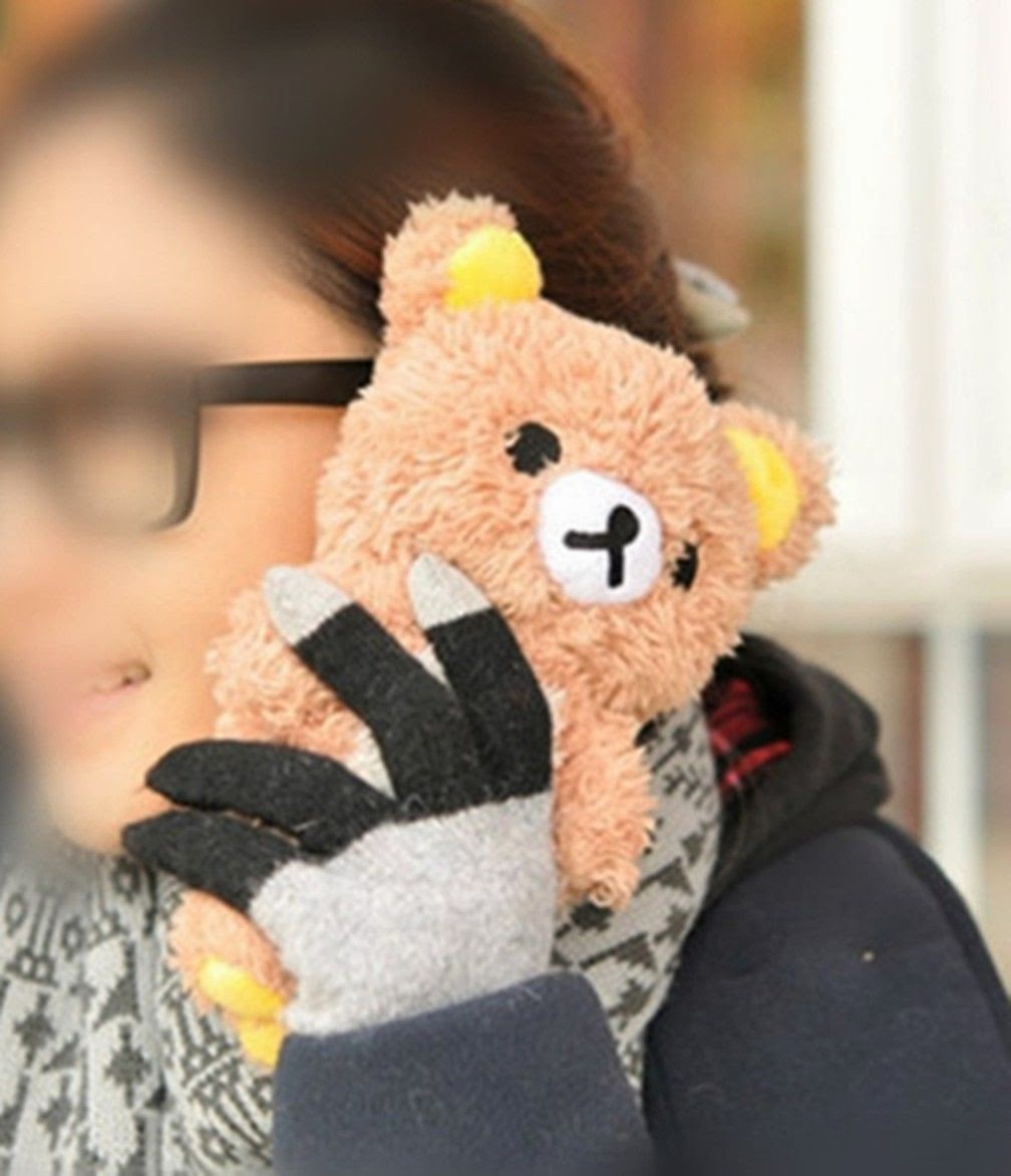 Cute 3D Funny Teddy Bear Cool Plush Toy Doll Cover Case For Apple Samsung Phones