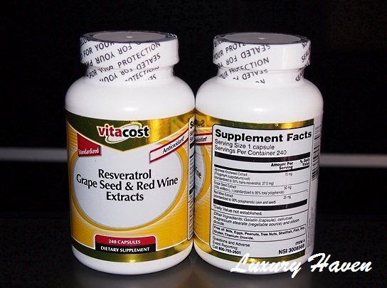 vitacost resveratrol grape seed red wine extracts