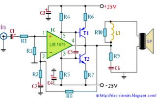 World Technical Lm1875 Hi Fi 50 Watt Power Amplifier