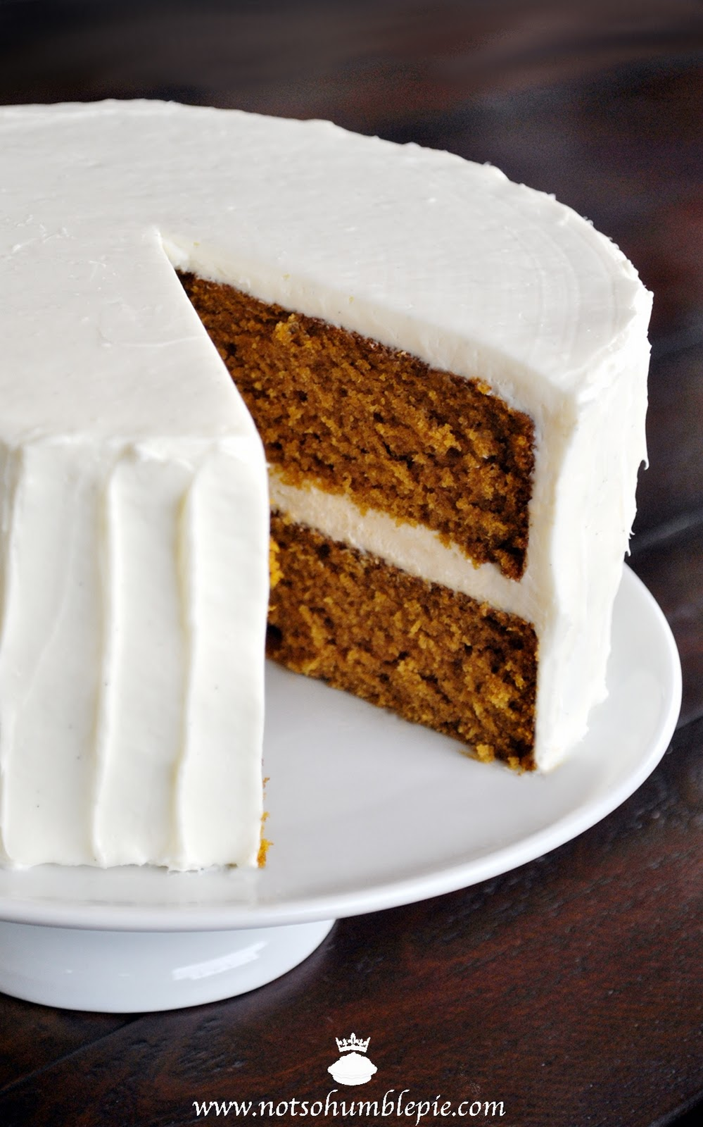 Not So Humble Pie: Pumpkin Spice Cake with Whipped Cream Cheese ...
