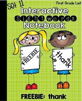 FREE Interactive Notebook Sight Words