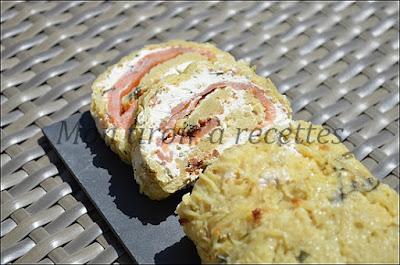 roulé pommes de terre saumon