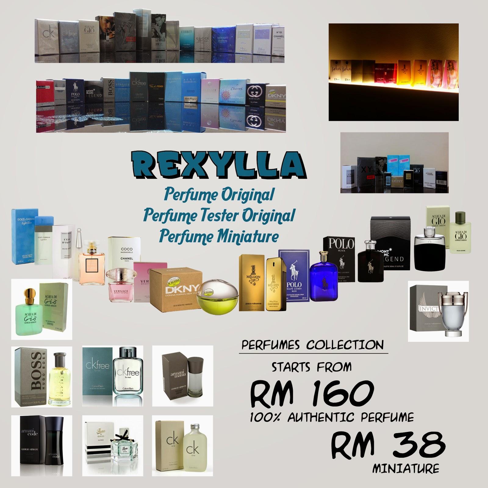 rexylla, perfume, authentic perfume, perfume miniature, perfume vial