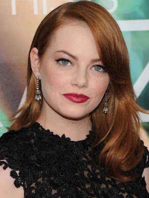Emma Stone Dangling Diamond Earrings