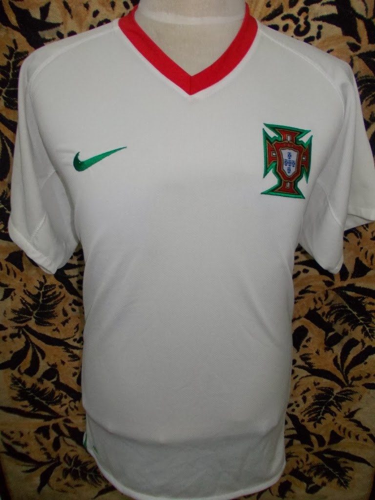 PORTUGAL AWAY EURO 2008 JERSEY-RM 75-SIZE XL-MADE MARROCO