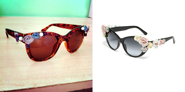 Dolce and Gabbana Floral Sunglasses