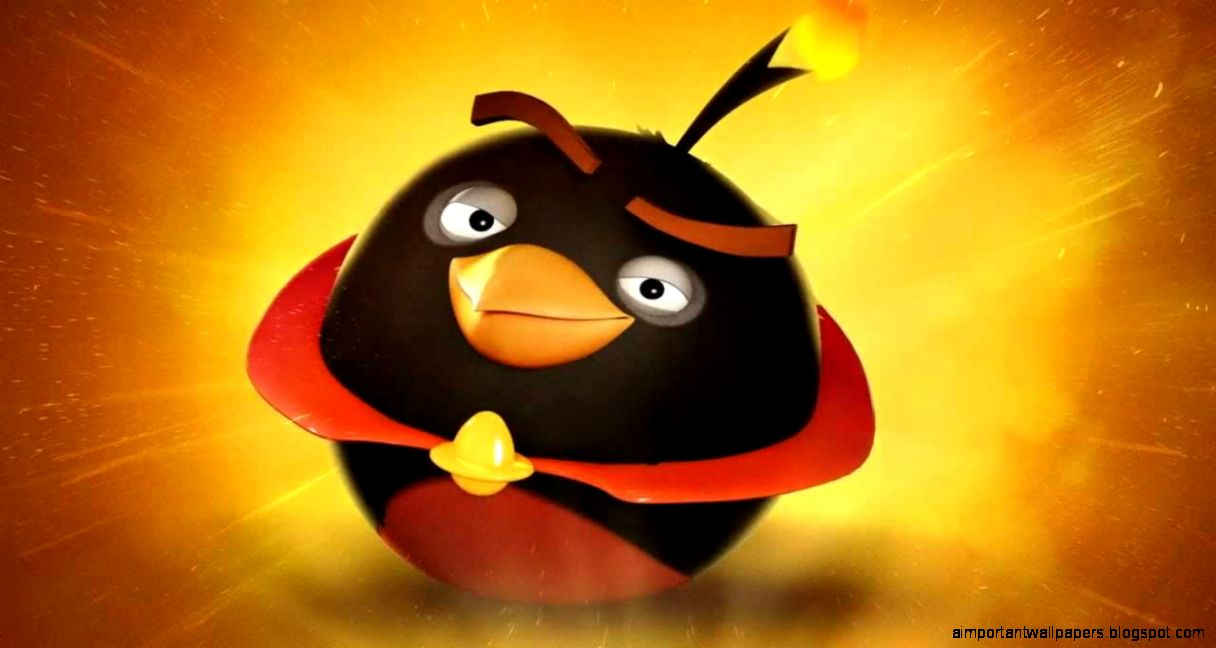 Yellow Angry Bird Flying Angry Birds Space Bomb Bird