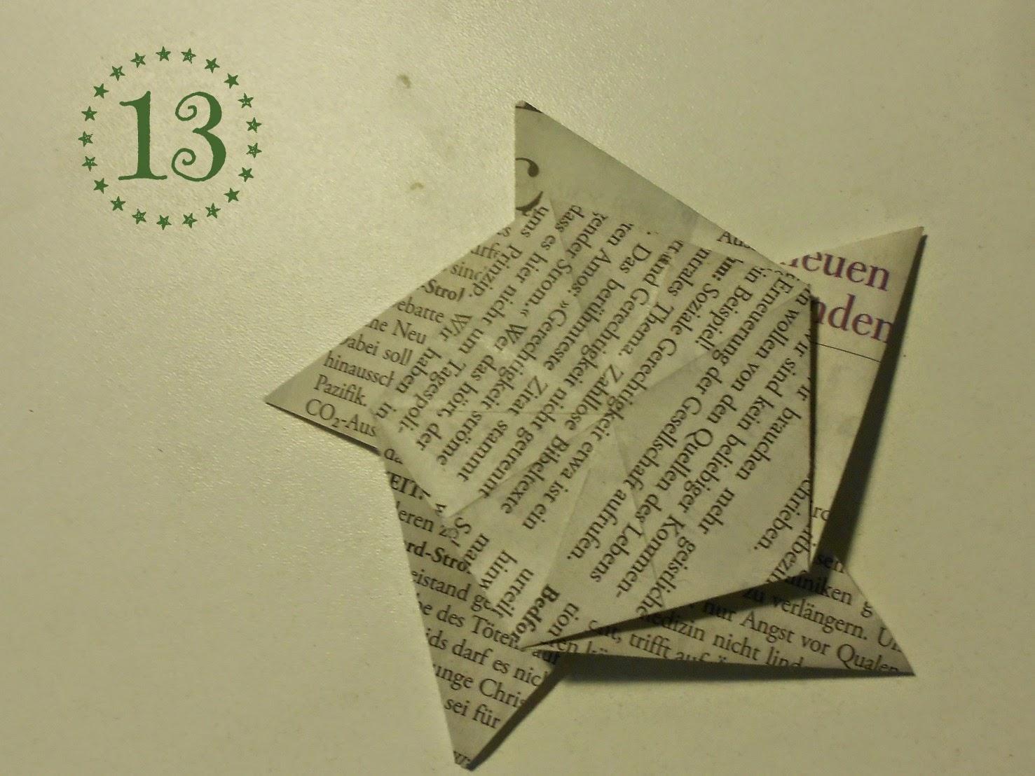 Papierstern - Schritt 13: Die gute Rückseite