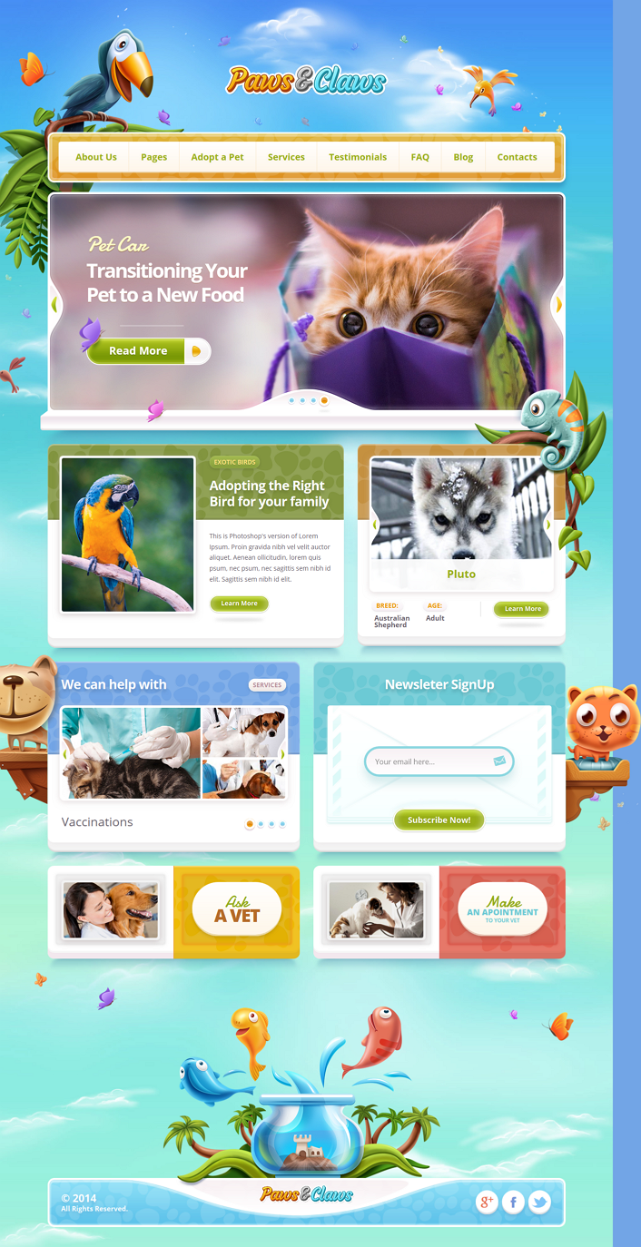 Premium Pets Website Theme