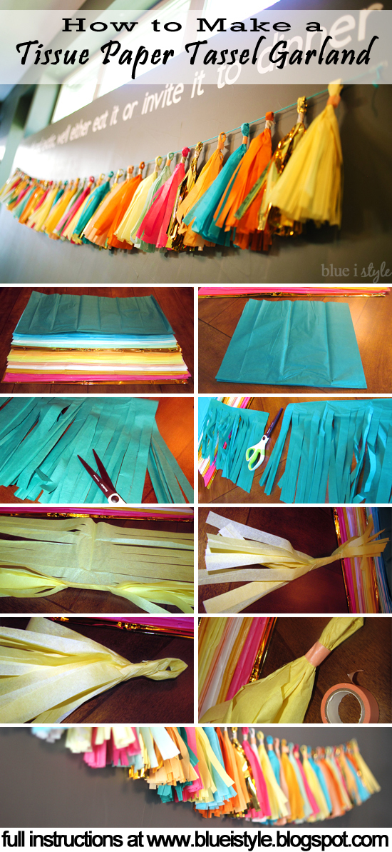 How to Make a Tissue Paper Garland