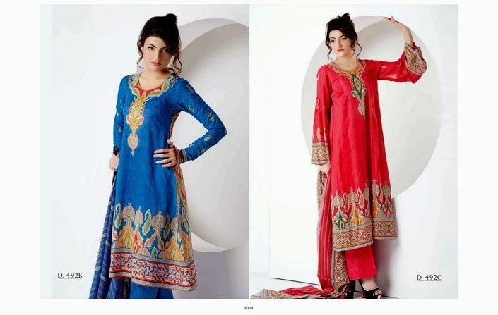 Embroidered Classic Lawn 2014