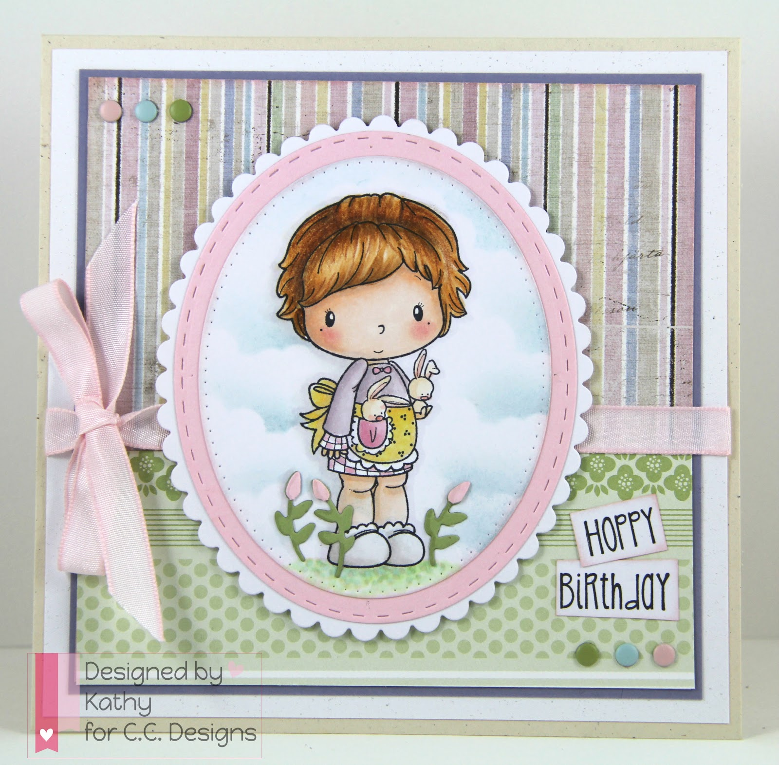 lucy with bunnies, cc designs, make a card #5, Make a card #2
