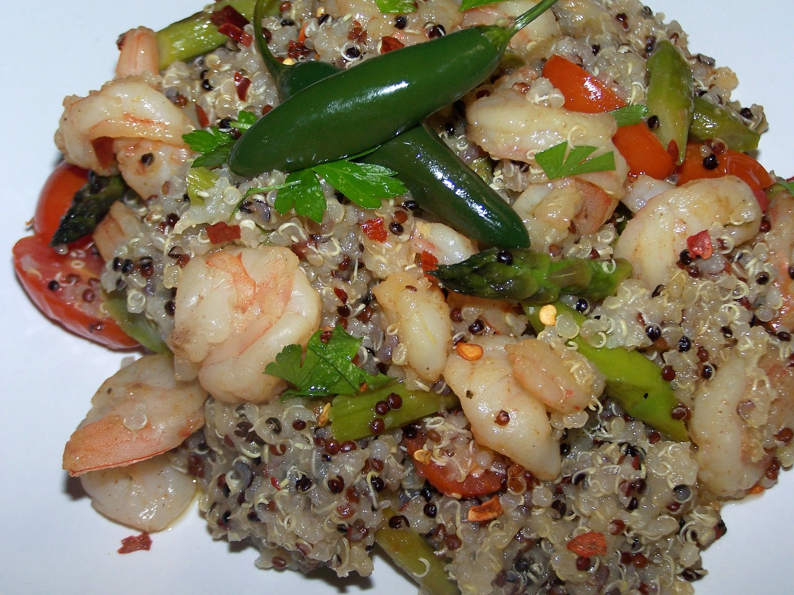 EZ Gluten Free: Quinoa with Shrimp and Asparagus