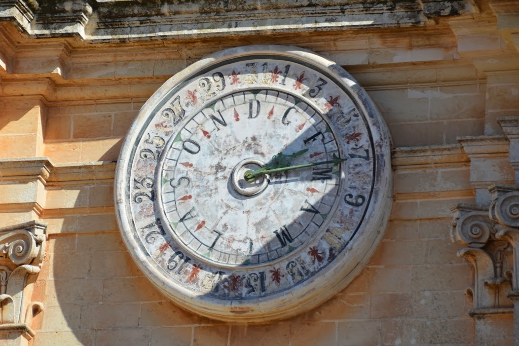 Mdina Cathedral Malta clock