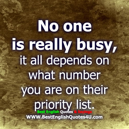 Priority List Quotes on Their Priority List