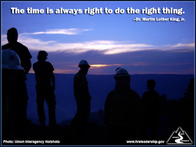 The time is always right to do the right thing. – Dr. Martin Luther King, Jr.