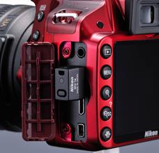 Nikon WU-1a monterad på en Nikon D3200