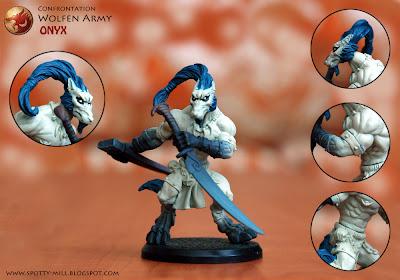 Фигурка героя Onyx из игровой системы Confrontation: Wolfen Army