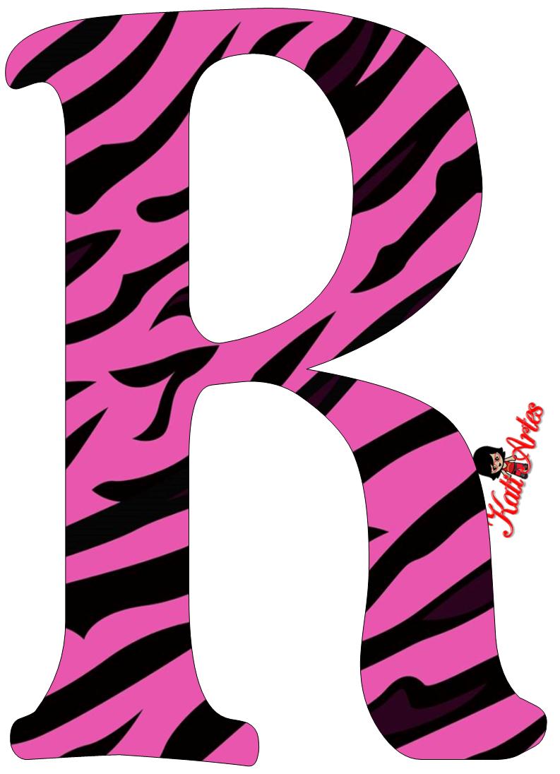 alfabeto cebra rosa oh my alfabetos